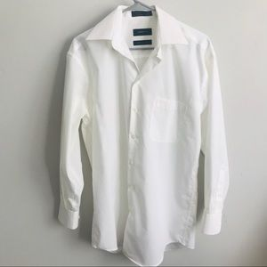 Men's Claiborne White Dress Button-Up Shirt